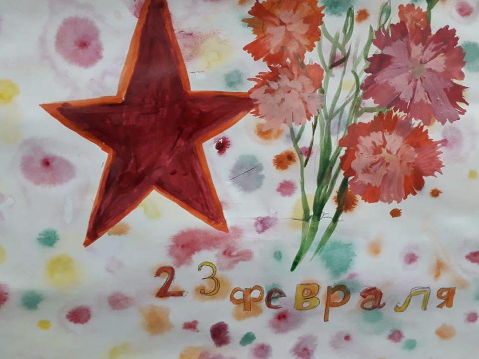 Выставка детских рисунков в честь Дня защитника Отечества открылась в центре «Орион»