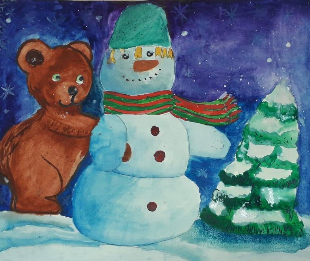В центре «Орион» проходит новогодняя выставка детских рисунков